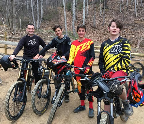 Learn downhill mountain biking with Chuck Pitts at Bailey Mountain